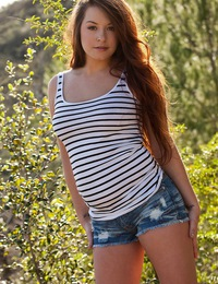 Talia Palmer has a naught picnic in the woods
