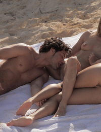 Leila Carmen,Christmas Vacation,Leila & Carmen both have amazing asses and a hot threesome while on vacation at the beach!