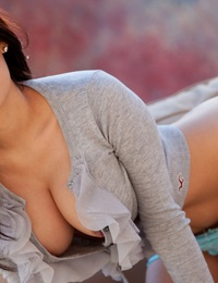 Vanessa Veracruz bursts out of her shirt