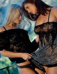 Michaela & Veronica Ricci have some fun with each other